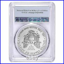 2020 W Burnished Silver Eagle PCGS SP-70 Flag Label First Strike WithOGP