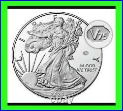2020 W END of WORLD WAR II 75th ANNIVERSARY AMERICAN EAGLE V75.999 SILVER PROOF