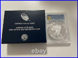 2020 W End of World War WW2 V75 Privy American Silver Eagle Proof PR70 PCGS