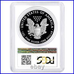 2020-W Proof $1 American Silver Eagle PCGS PR70DCAM FDOI Flag Label White Frame
