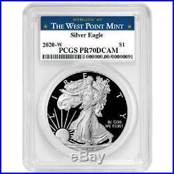 2020-W Proof $1 American Silver Eagle PCGS PR70DCAM West Point Label