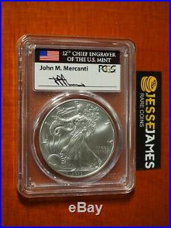 2020 (p) Silver Eagle Pcgs Ms70 Mercanti Emergency Issue Struck At Philadelphia