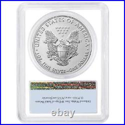 2021 $1 American Silver Eagle 3pc. Set PCGS MS70 FS Flag Label Red White Blue