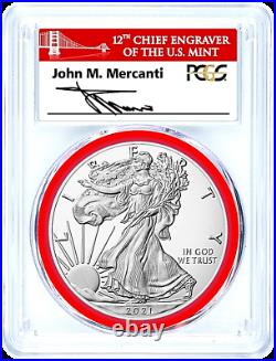 2021-s Mint Engraver-type 1-emergency Issue-silver Eagle-pcgs Ms70-fdoi-mercanti