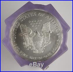 20X 1996 American Eagle 1 Oz 999 Silver Coin Sealed Roll by NGC GEM BU Key Date