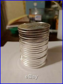 20 American Silver Eagles Various Dates 1Roll. 20 BU Coins in Tube