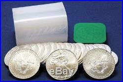 20 x 2014 US AMERICAN EAGLE 1oz 999 FINE SILVER $1 COINS- 1 TUBE