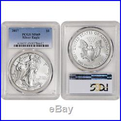 32-pc. 1986 2017 American Silver Eagle Complete Date Set PCGS MS69