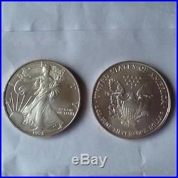 38 Silver Eagle 1 oz one ounce fine. 999 X 38 Walking Liberty bullion coins