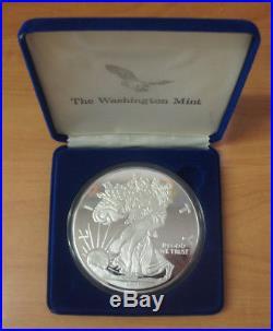 4 One Pound Giant Silver Eagle. 999 Pure Washington Mint Proof Coin 1994 16oz