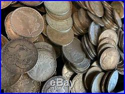 5 Rolls 100 Coins $1 CULL 1921 Morgan US Silver Dollars Eagle 90% Bulk Lot