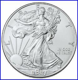 5 Rolls 2020 1 oz American Silver Eagle $1 Coins BU SKU59441