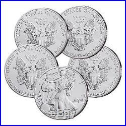 5 mal Silbermünze USA 1 Unze Silber Eagle 2017 999er Silber Silver Eagle
