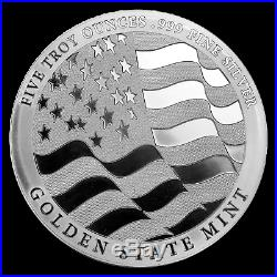 5 oz Silver Round Silver Eagle (Strength, Freedom, & Pride) SKU#185291