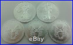 5 x 1oz Silver 2017 American Eagle Bullion Coins