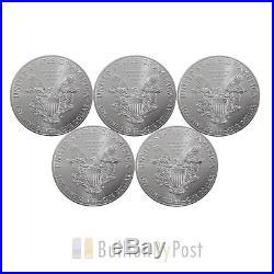 5 x 1oz Silver American Eagle Coins
