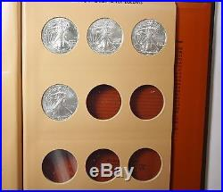 AMERICAN SILVER EAGLE Collection (1986-2016) Complete Set 31 Coins Dansco