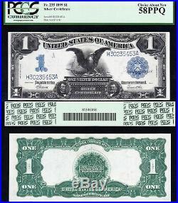 Amazing HIGH GRADE 1899 $1 BLACK EAGLE Silver Cert! PCGS 58 PPQ! FREE SHIP! 5453
