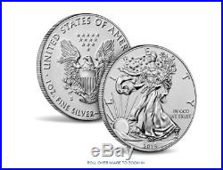 American Eagle 2019 One Ounce Silver Enhanced Reverse Proof Coin on Hand Opened