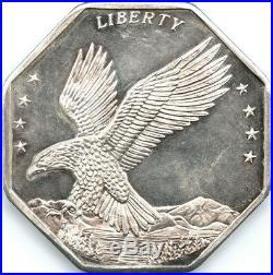 American Royal Mint 10 oz Octagon. 999 Fine Silver American Eagle $100