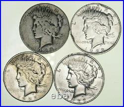 Bulk Lot CULL (4) 1922-1925 Peace Silver Dollar 90% Eagle Collection 1/5 Roll