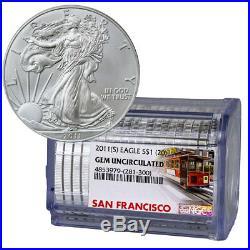 Certified Roll of 20 2011(S) Silver Eagle Struck San Francisco NGC BU SKU54823