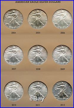 Complete 1986 2018 American Eagle Silver Coin Set & 7181 Dansco Album AR307
