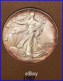 Complete American Silver Eagles Set 1986 2018 All Uncirculated BU ASE 33 Coins