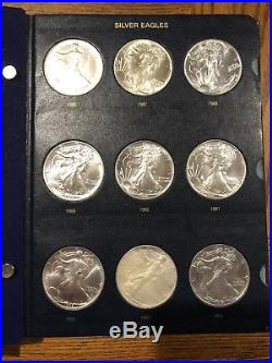 Complete Set Of Silver American Eagles 1986-2018