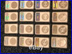 Complete Set of 1986-2017 American Silver Eagle Set Certified NGC MS 69