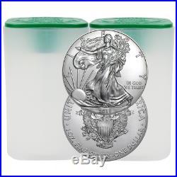 Daily Deal Lot of 40 2018 $1 American Silver Eagle 1 oz BU 2 Full Rolls