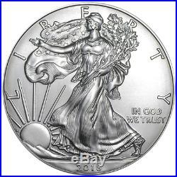 Daily Deal Lot of 60 2018 $1 American Silver Eagle 1 oz BU 3 Full Rolls