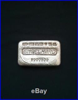 ENGELHARD 10 OZ Old Pour SILVER BAR RARE W 9th Series West LOW # W000530 eagle