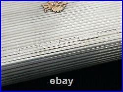 FABERGE Era Antique Imperial Eagle Russian Silver Cigarette Vesta Case 14K Gold