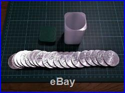 Full US Mint tube of 2013 Solid Silver American Eagle 1 ounce Coins