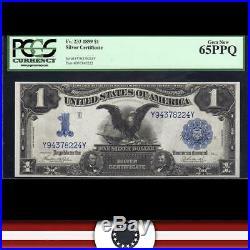 GEM 1899 $1 Silver Certificate BLACK EAGLE PCGS 65 EPQ Fr 233 Y94378224Y