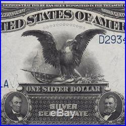 GEM UNC PPQ ONE DOLLAR BLACK EAGLE 1899 $1 Silver Certificate FR 233 2905C