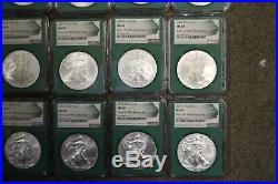 Green Mint Sealed Box Silver Eagle Set 1986-2016 NGC MS 69 Boxes 1996 1994 1997