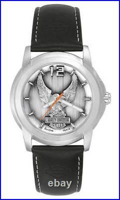 Harley-Davidson Men's Bulova Eagle Wrist Watch 76A12