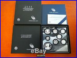 In Stock! 2018 S Proof Silver Eagle Limited Edition Proof Set 18rc In Ogp
