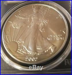 LOOK 2002 Silver Eagle MS70 Mercanti Signed Population only 36