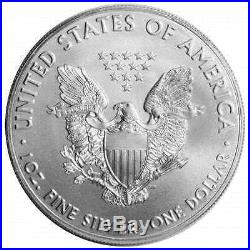 Lot of 100 2017 $1 American Silver Eagle 1 oz Brilliant Uncirculated 5 Full Ro