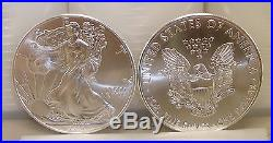 Lot of (100) 2017 1 oz. 999 Fine American Silver Eagle Bullion Coins
