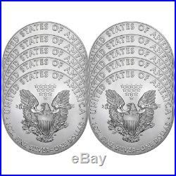 Lot of 10 2019 $1 American Silver Eagle 1 oz Brilliant Uncirculated