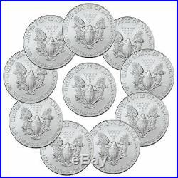 Lot of 10 2020 1 oz American Silver Eagle $1 Coins GEM BU PRESALE SKU59439