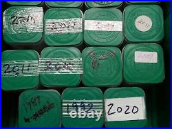 Lot of 10 American Silver Eagles $1 BU Half Roll 1 Ounce Oz ASE