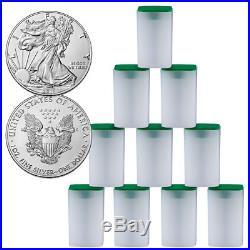 Lot of 10 Rolls (200 Coins) 2018 American Silver Eagle $1 BU PRESALE SKU51564