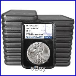 W 2019 $1 American Silver Eagle NGC MS69 Blue ER Label Retro Core