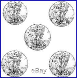 Lot of 5 2020 1 oz American Silver Eagle $1 Gem BU Coins Presale