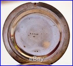 Massive Paul Bunyan Coin Silver Hunter Case Pocket Watch F. Jacot 18 Size Plus
